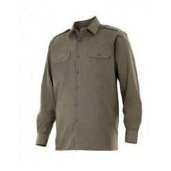 Camisa manga larga bolsillos y galonera